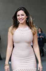 KELLY BROOK Leaves Her Hotel in London