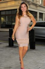 KELLY BROOK Leaves Her Hotel in London