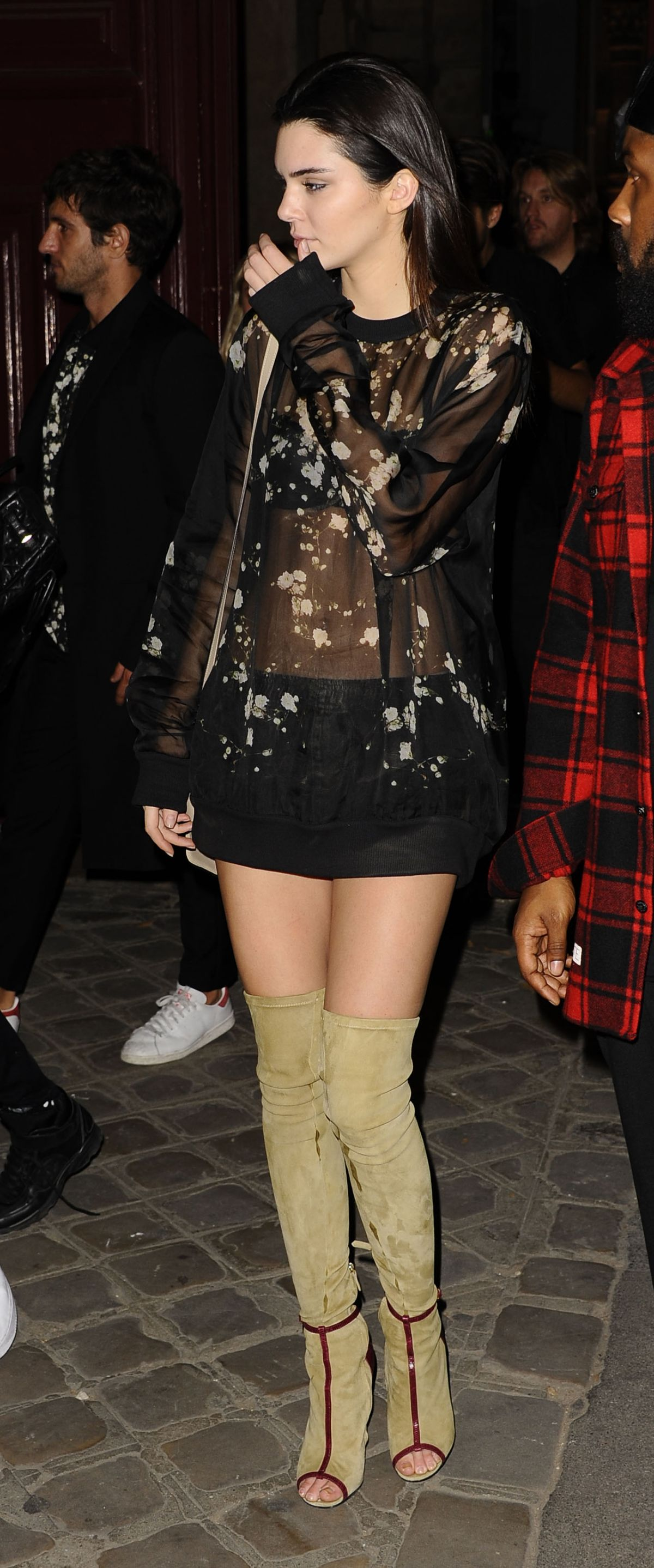Kendall Jenner In Over The Knee Boots Night Out In Paris