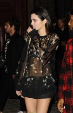KENDALL JENNER in Over-the-Knee Boots Night Out in Paris