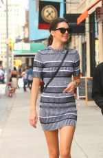 KENDALL JENNER in Short Dress Out and About in New York