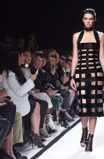 KENDALL JENNER on the Runway of Balmain Fashion Show in Paris