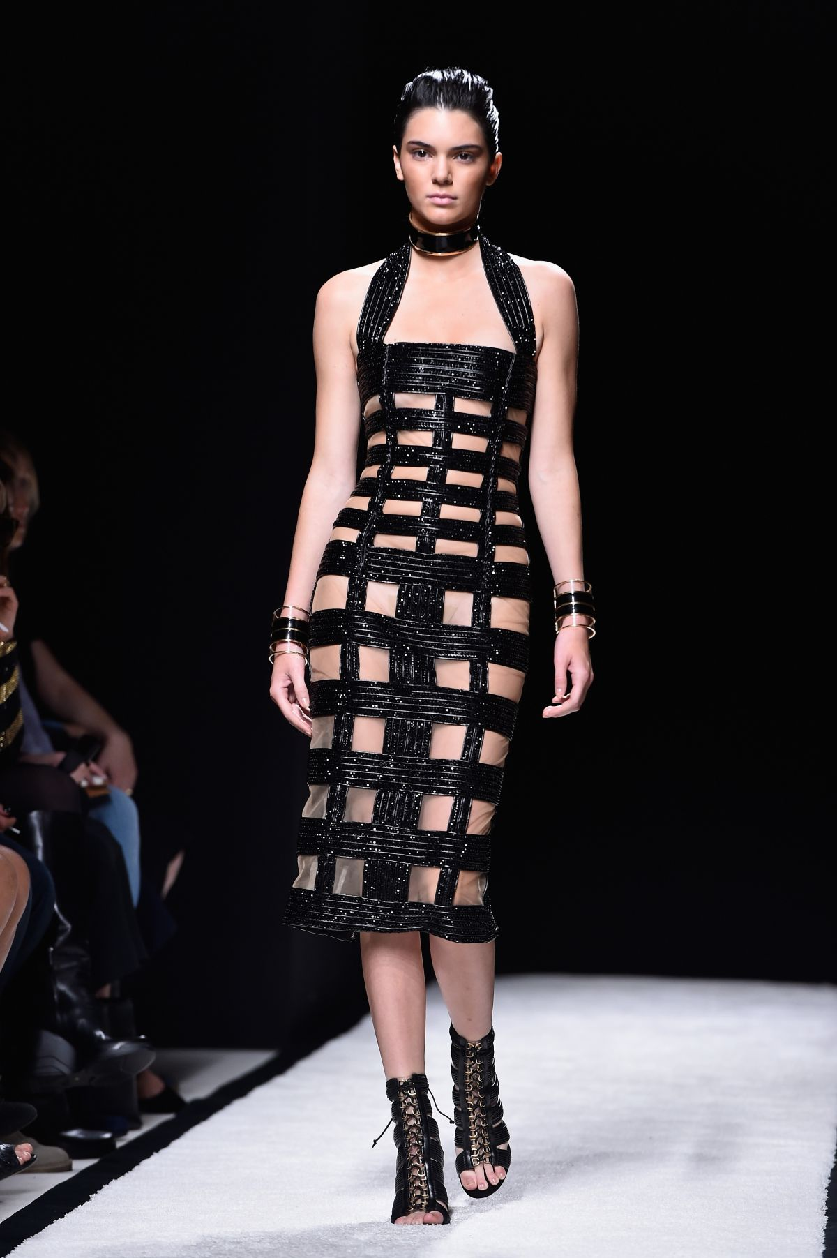 Kendall Jenner On The Runway Of Balmain Fashion Show In