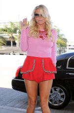KESHA in Shorts at LAX Airport in Los Angeles