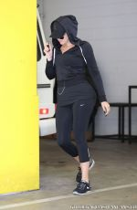 KHLOE KARDASHIAN Arrives at a Gym in Los Angeles