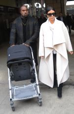 KIM KARDASHIAN and Kanye West Out and About in Paris