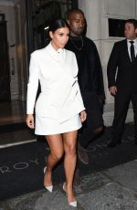 KIM KARDASHIAN Arrives at a Party at Fashion Week in Paris
