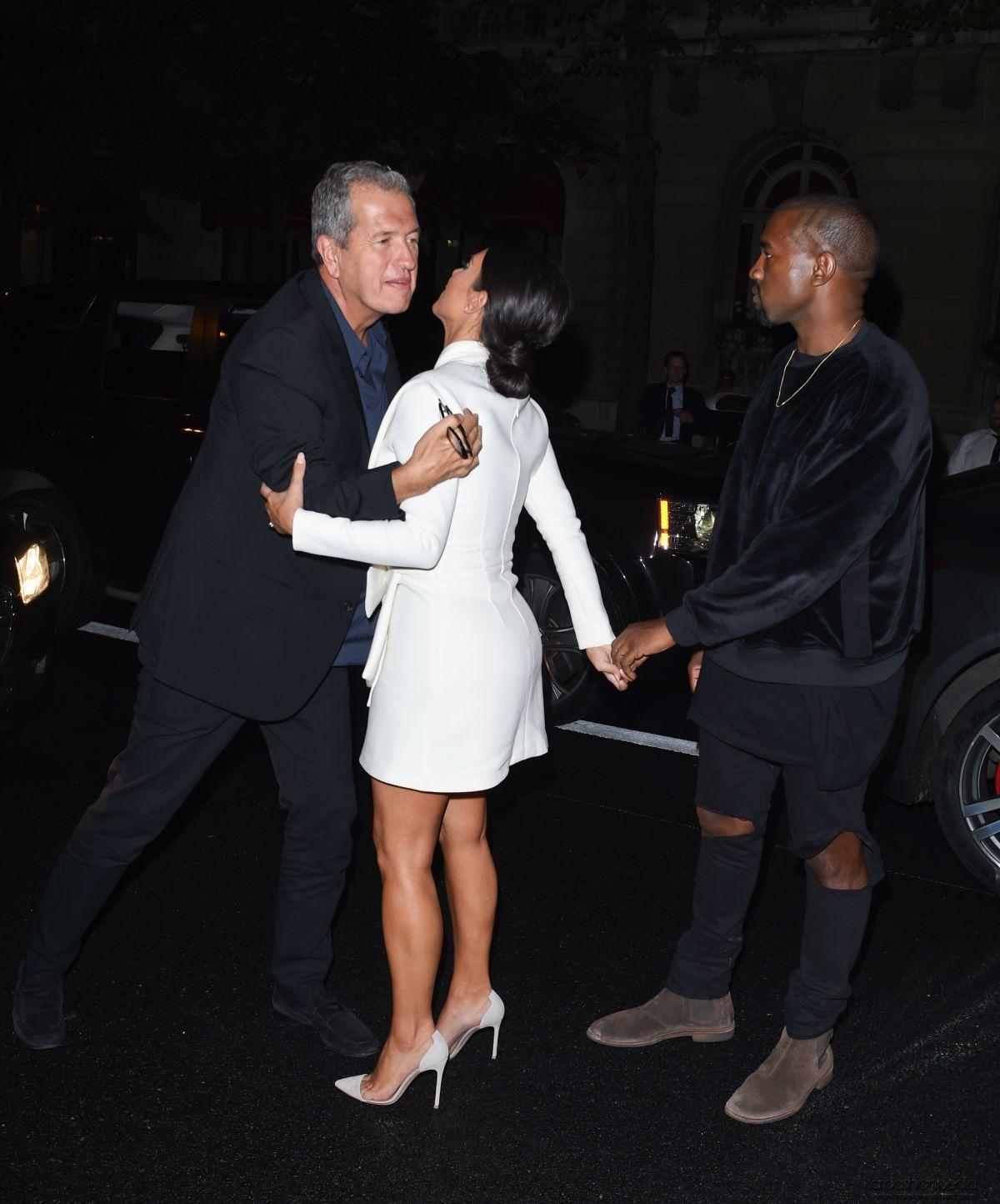 Ki Kim Kardashian Dresses For Cheap - Kim kardashian arrives at a party at fashion week in paris