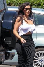 KIM KARDASHIAN Arrives at Bunim Murray Production Office in Los Angeles