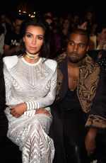 KIM KARDASHIAN at Balmain Fashion Show in Paris