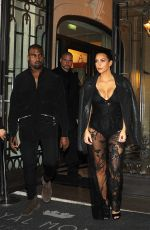 KIM KARDASHIAN Heading to Givenchy Fashion Show in Paris