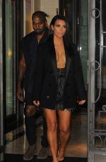 KIM KARDASHIAN Leaves Her Hotel in Paris