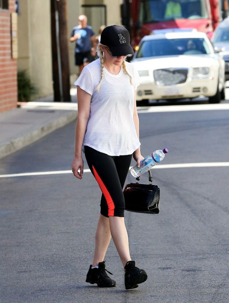 KIRSTEN DUNST in Tights at a Gym in Los Angeles 2309