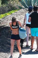 KRISTEN STEWART in Shorts Out Hiking in Malibu