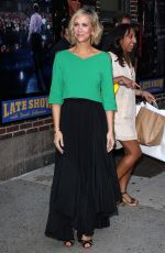 KRISTEN WIIG Arrives at Late Show with David Letterman in New York