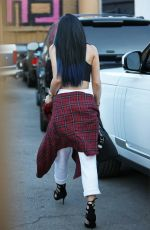 KYLIE JENNER Arrives at Andy Lecompte Salon in West Hollywood