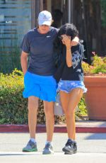 KYLIE JENNER in Denim Shorts Out and About in West Hollywood