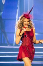 KYLIE MINOGUE Performs at Kiss Me Once Tour at O2 Arena in London