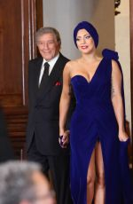 LADY GAGA at Cheek to Cheek Press Conference in Brussels