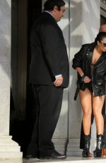 LADY GAGA Leaves Her Hotel in Athens