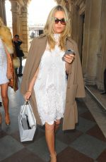 LAURA WHITMORE Arrives at Somerset House for London Fashion Week