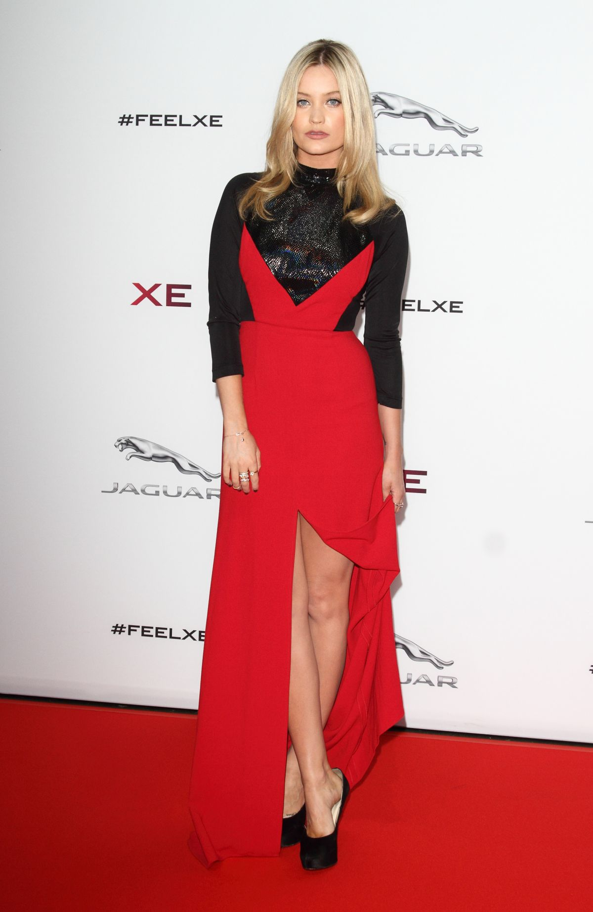 LAURA WHITMORE at Jaguar XE Sport Saloon Launch in London