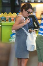 LEA MICHELE Arrives at Earth Bar in West Hollywood