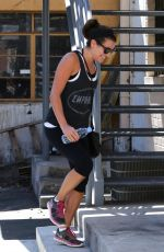 LEA MICHELE Leaves a Yoga Studio in Los Angeles 2509