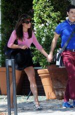 LEA MICHELE on the Set of Glee in Glendale
