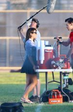 LEA MICHELE on the Set of Glee in Los Angeles 2209