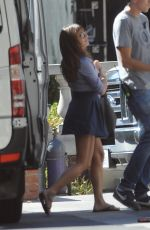 LEA MICHELE on the Set of Glee in Los Angeles 2409