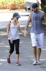 LEA MICHELE Out Hiking in Studio City