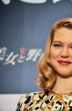 LEA SEYDOUX at Beauty and the Beast Press Conference in Tokyo