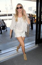 LEANN RIMES in Shorts Arrives at LAX Airport