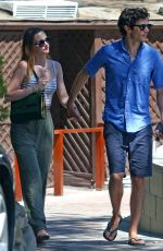 LEIGHTON MEESTER and Adam Brody Out and About in New York