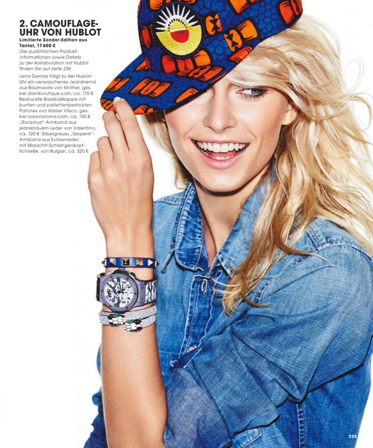 Lena Gercke In Instyle Magazine Germany October 2014 Issue