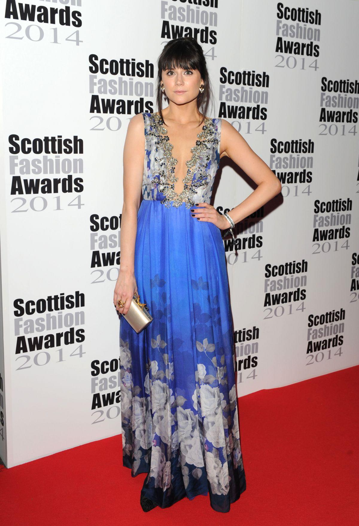 LILAH PARSONS at Scottish Fashion Awards 2014 in London