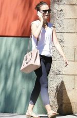 LILY COLLINS Heading to a Gym in Los Angeles 0909