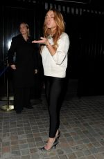 LINDSAY LOHAN Arrives at Chiltern Firehouse in London