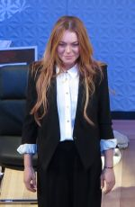 LINDSAY LOHAN at Speed-the-plow Opening Night in London