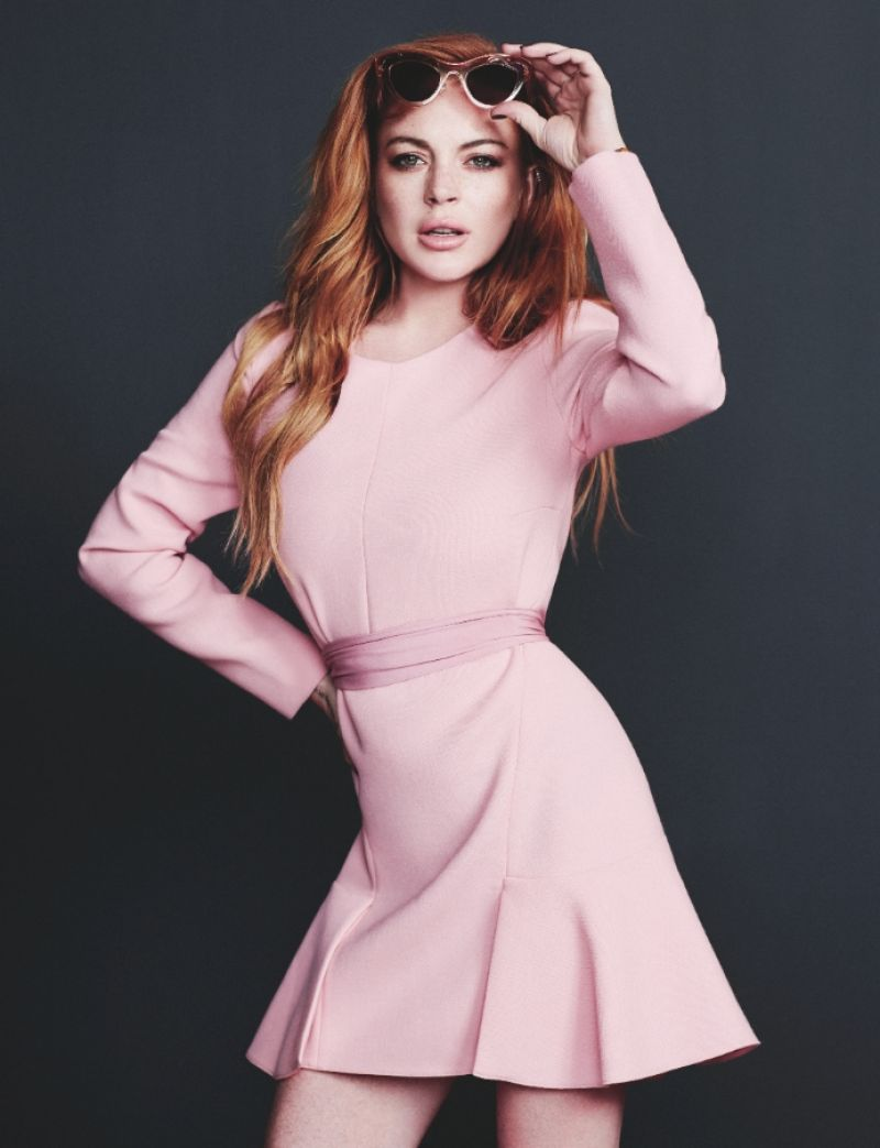 LINDSAY LOHAN in Wonderland Magazine, September/October 2014 Issue