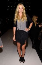 LINDSEY VONN at Project Runway Fashion Show in New York