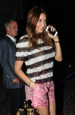 LISA SNOWDON Arrives at Chiltern Firehouse in London