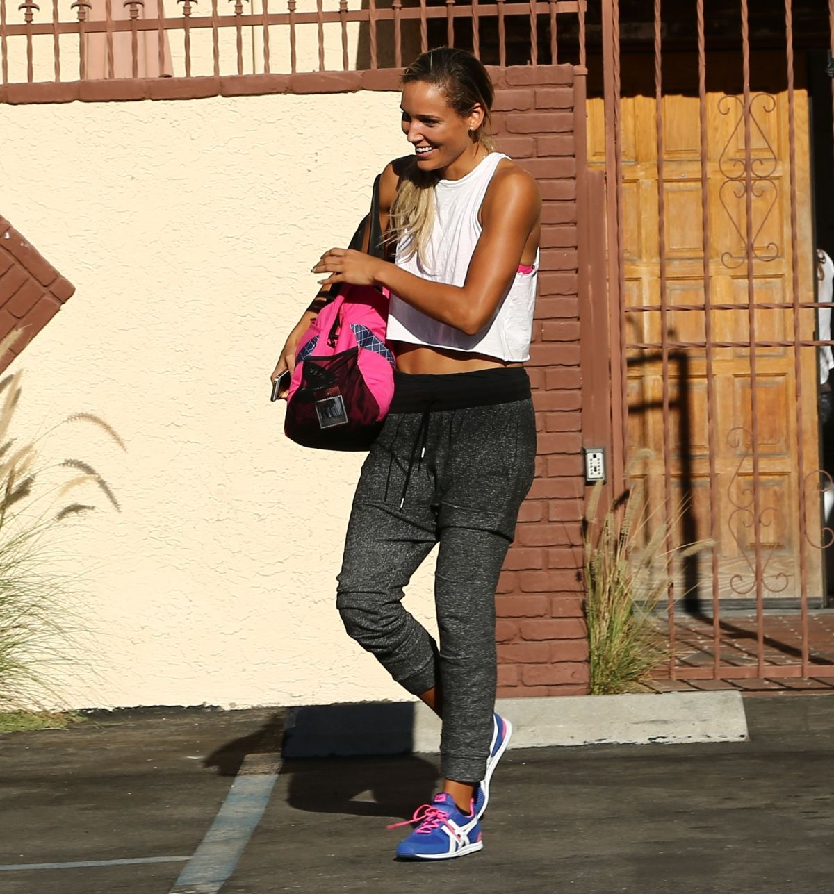 LOLO JONES leaves DWTS Rehearsal Studio in Los Angeles