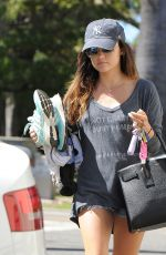 LUCY HALE in Shorts Out in Los Angeles 2609