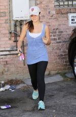 LUCY HALE in Tights Leaves a Gym in Los Angeles 2609