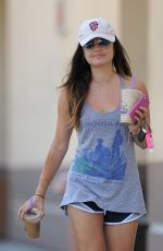 LUCY HALE Leaves a Coffee Bean and Tea Leaf in Los Angeles