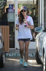 LUCY HALE Leaves Coffee Bean & Tea Leaf in Los Angeles