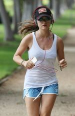 LUCY HALE Out Jogging in Los Angeles