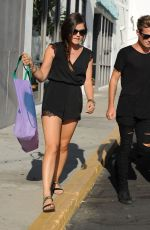 LUCY HALE Out Shopping in Beverly Hills